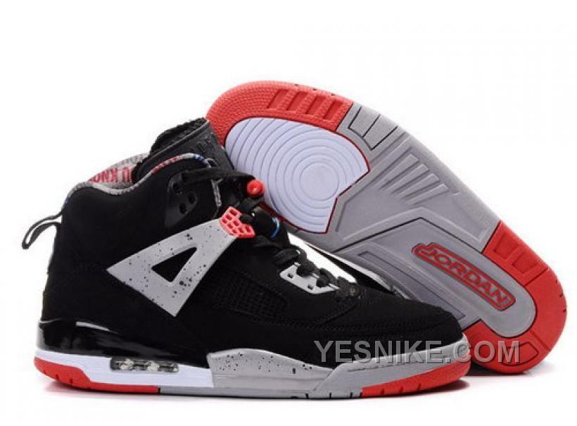 Uk Air Jordan Spizike 35 Retro Mens Shoes Black Grey Red Online Jj6MN