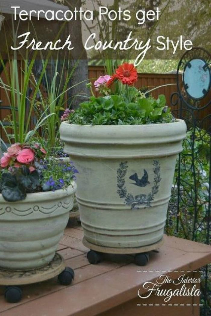 French Country Cottage Kitchen Terracotta Pots Terracotta French Country Style