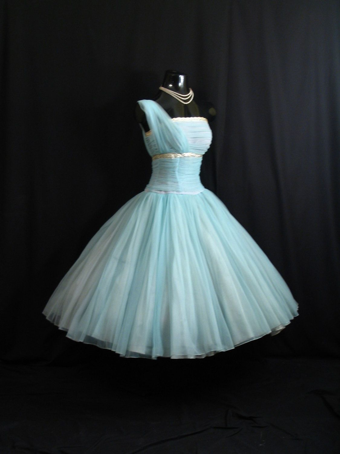 Vintage s fred perlberg turquoise party dress vintage bitch