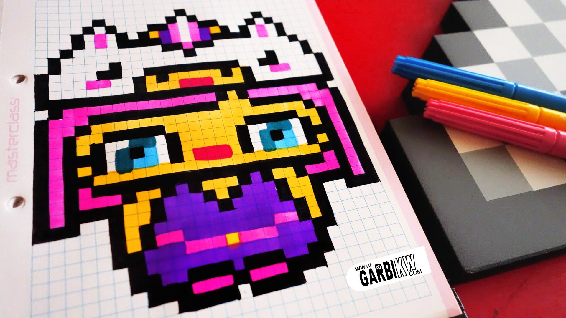 Handmade Pixel Art How To Draw Kawaii Unicorn Girl