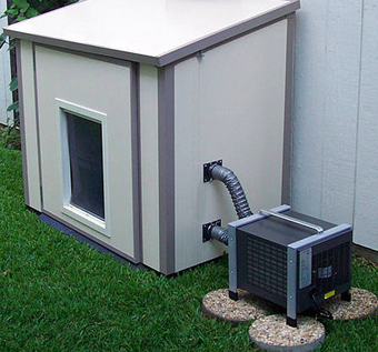 Picture Air conditioned dog house, Cool dog houses