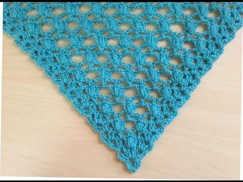 Precioso Chal Tejido A Crochet Facil De Tejer Châle Au Crochet Facil Crochet Scarf Crochet Crochet Crocodile Stitch