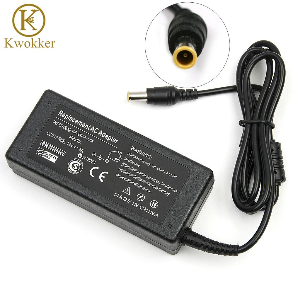 14v 4a 56w Ac Power Laptop Adapter For Sumsang Lcd Syncmaster Monitor S24a350h B2770 P2770h P2370h