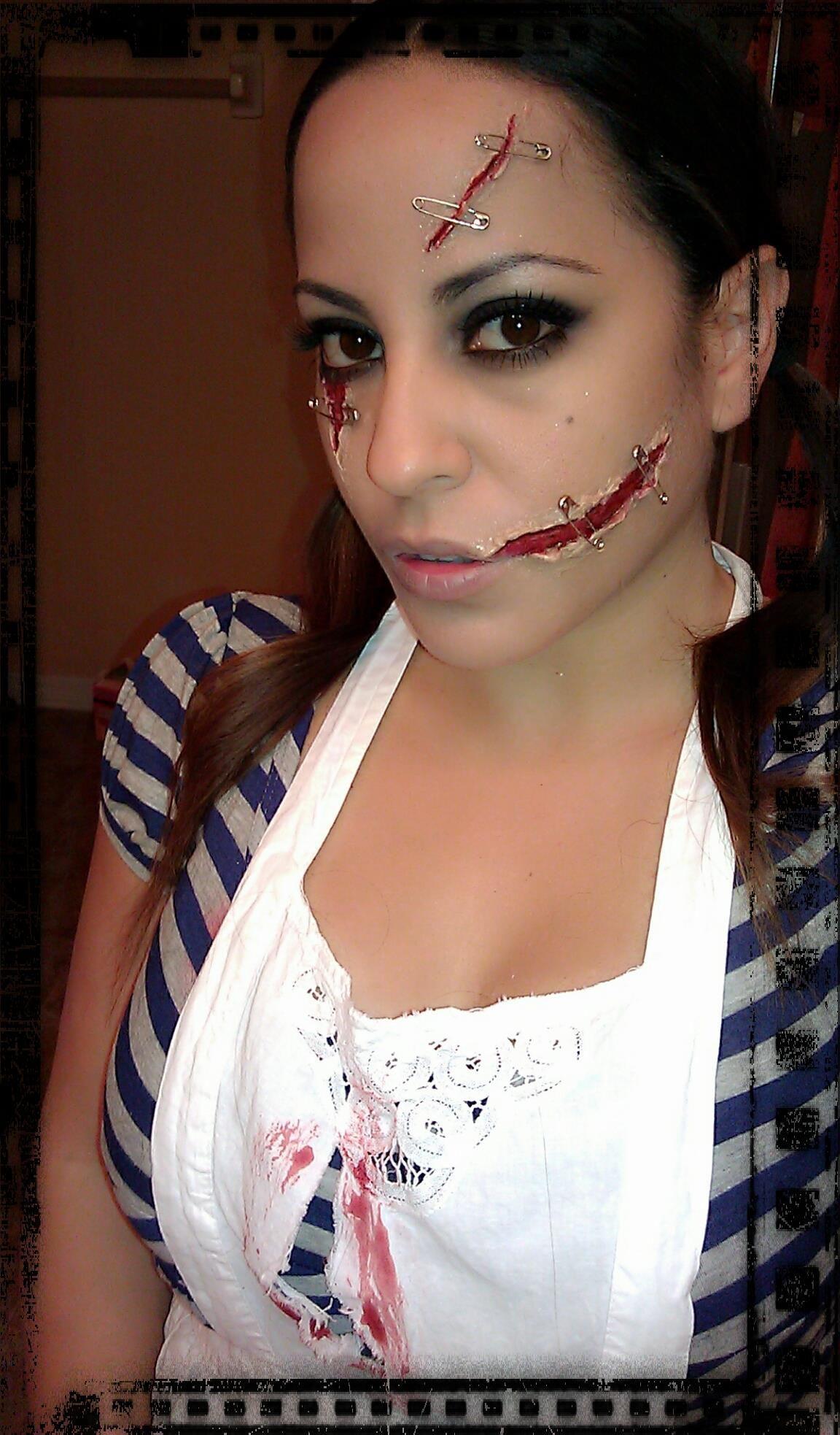 Chelsea Smile makeup black dahlia makeup halloween makeup