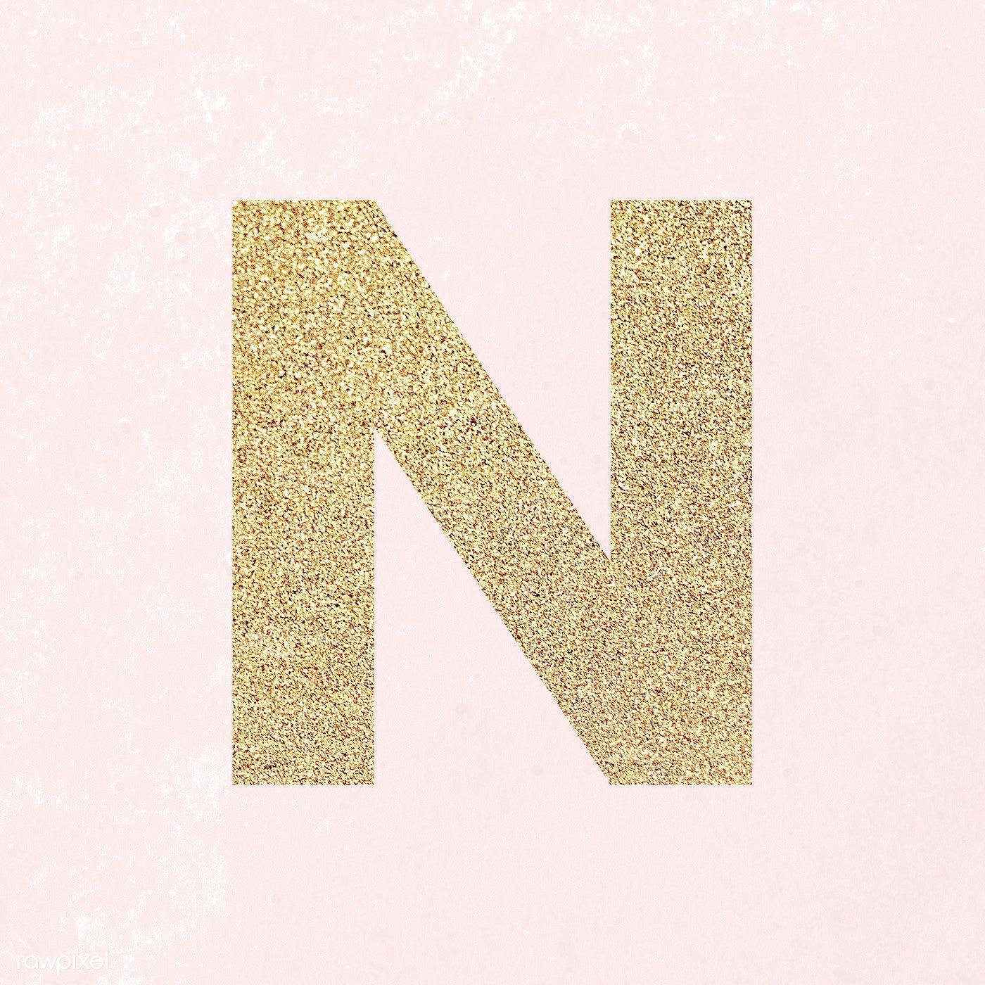 Glitter Capital Letter N Sticker Illustration Free Image By Rawpixel Com Ningzk V Letter N Lettering Numbers Typography