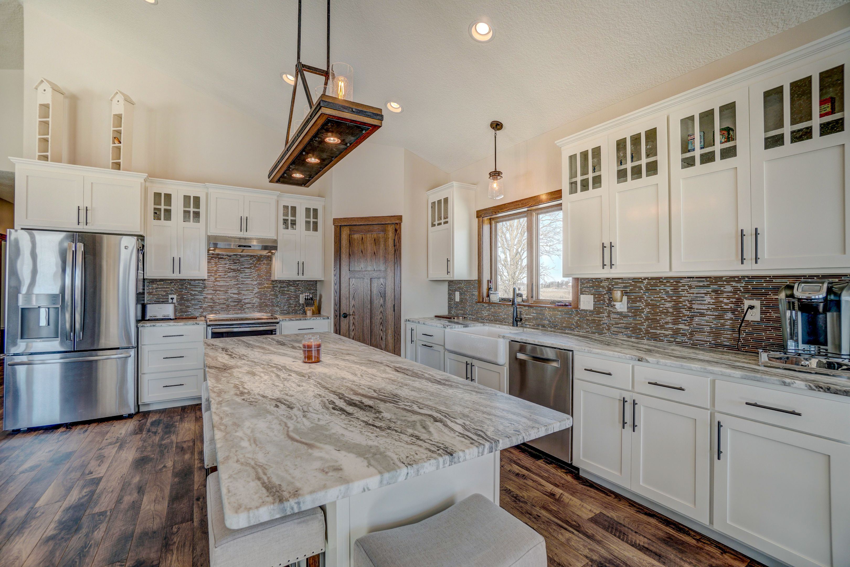 randi felicia s baldwin wi roofing siding window project open concept kitchen white on kitchen remodel with island open concept id=33791