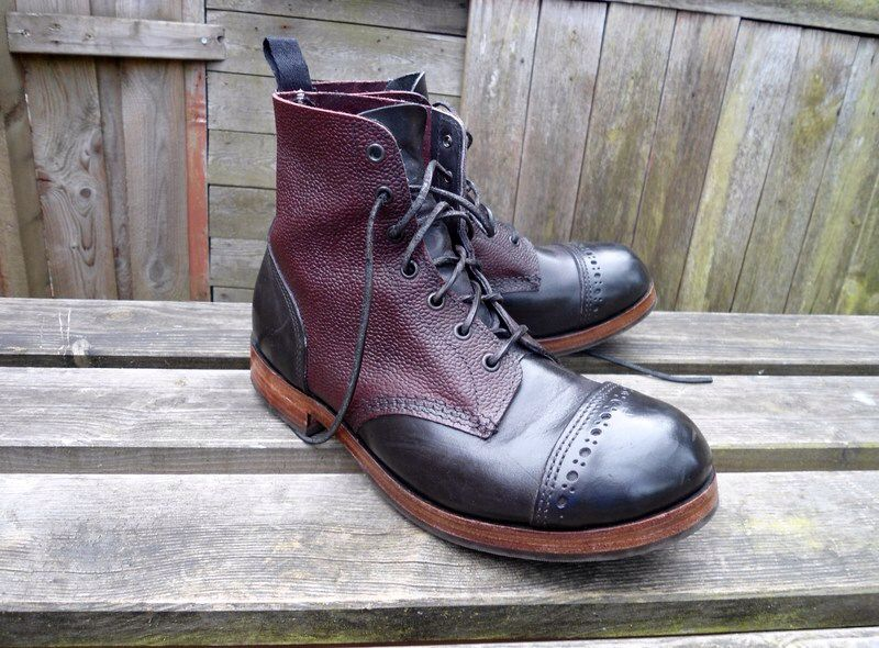 Oxblood zug grain and black William Lennon boots