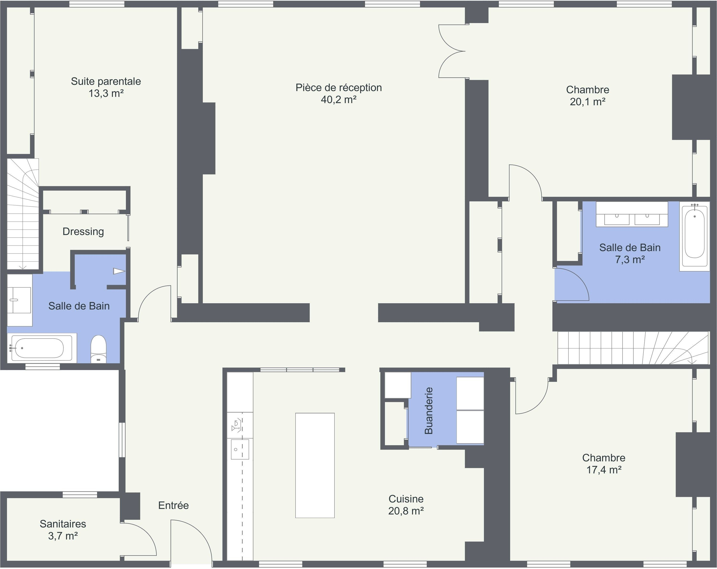Best Of Plan Chambre Parentale 20m2 Chambres Parentales Chambre