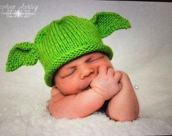 PDF pattern only Yoda Hat Knitting Pattern child by ...