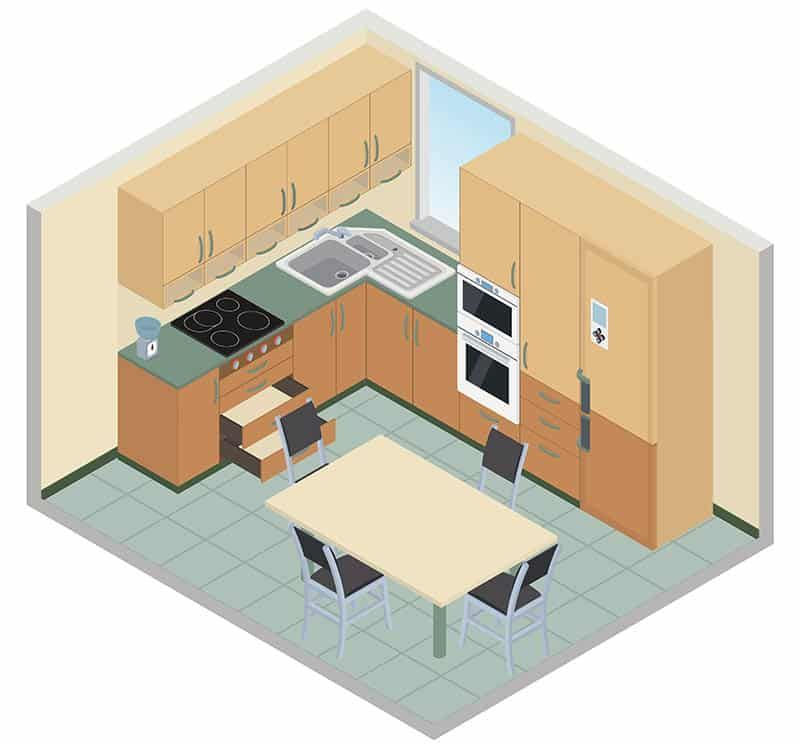 What Are The 6 Types Of Kitchen Layouts In 2021 Kitchen Layout L Shape Kitchen Layout Galley Kitchen Layout