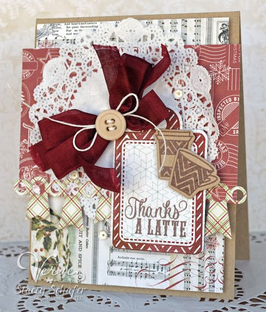 Card by Stacey Schafer using Holiday Treats from Verve.  #vervestamps