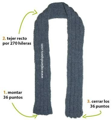 bufandas tejidas para hombre buscar con google
