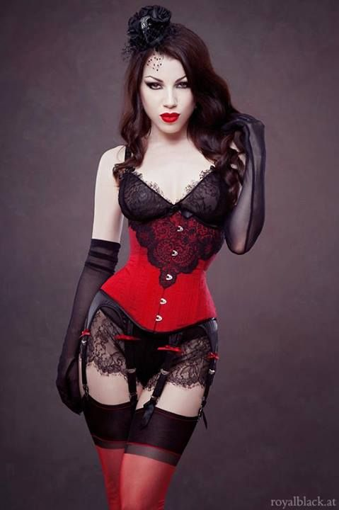 Threnody in Velvet for Royal Black Couture and Corsetry