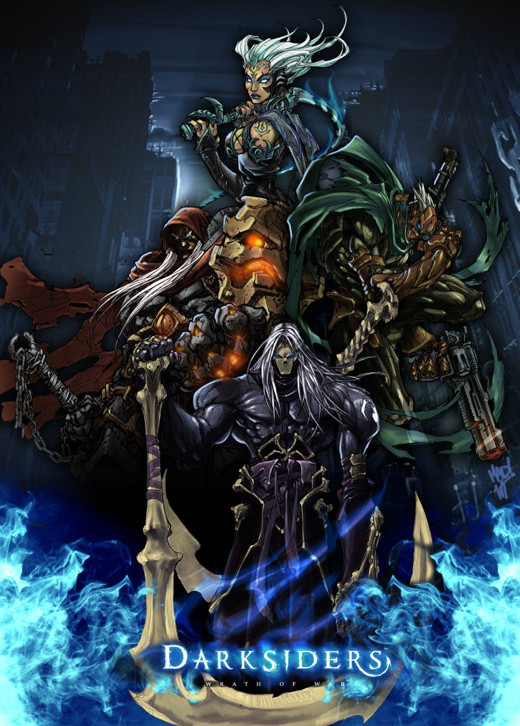 Awesome concept art form the thq video game series darksiders the awesome concept art form the thq video game series darksiders the four horseman of the fandeluxe Gallery