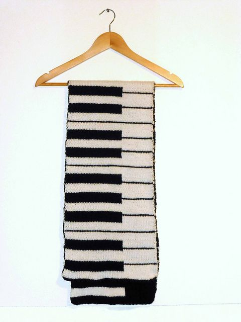 Piano Roll Scarf pattern by Mrs Buttons | Pinterest