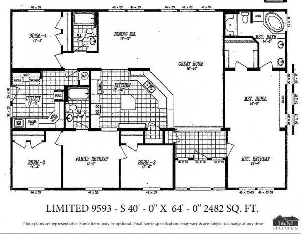 Marlette Mt Bachelor III Manufactured Home J M Homes LLC – Marlette Mobile Home Floor Plans