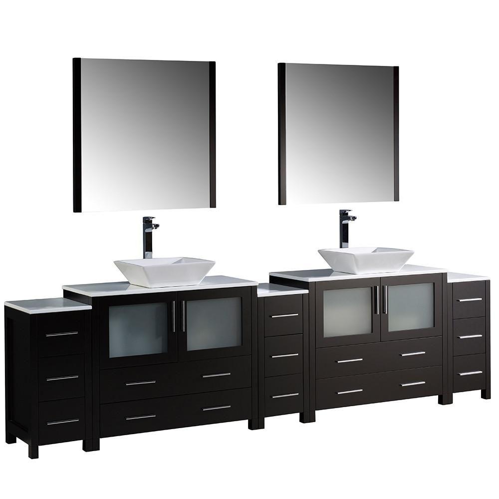 Fresca Torino 108 Double Sink Vanity Double Vanity Bathroom Sink Vanity