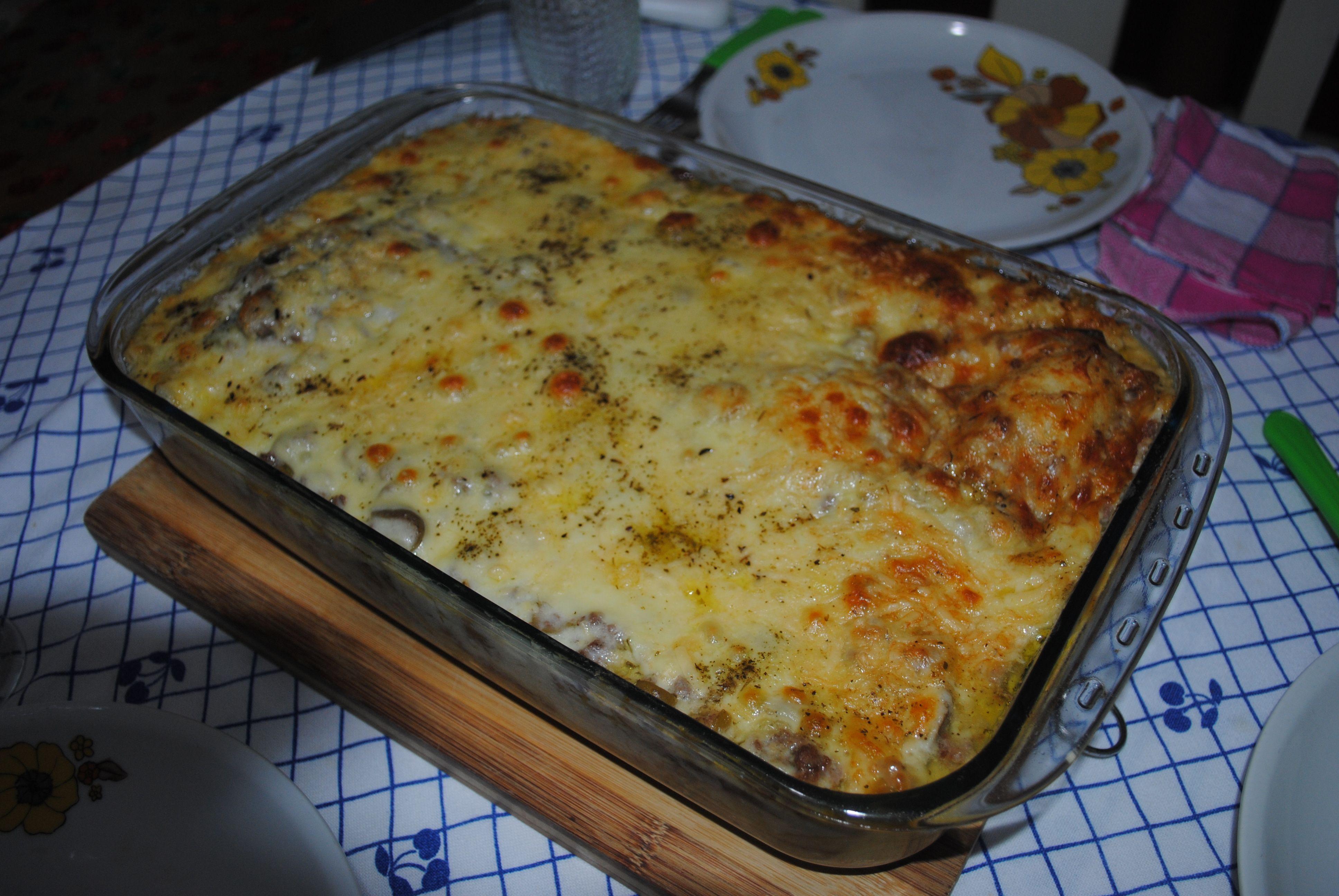 Lasanha de berinjela à quatro-queijos