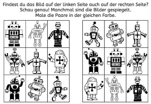 Gespiegelte Roboterpaare finden | Robot Theme | Pinterest ...