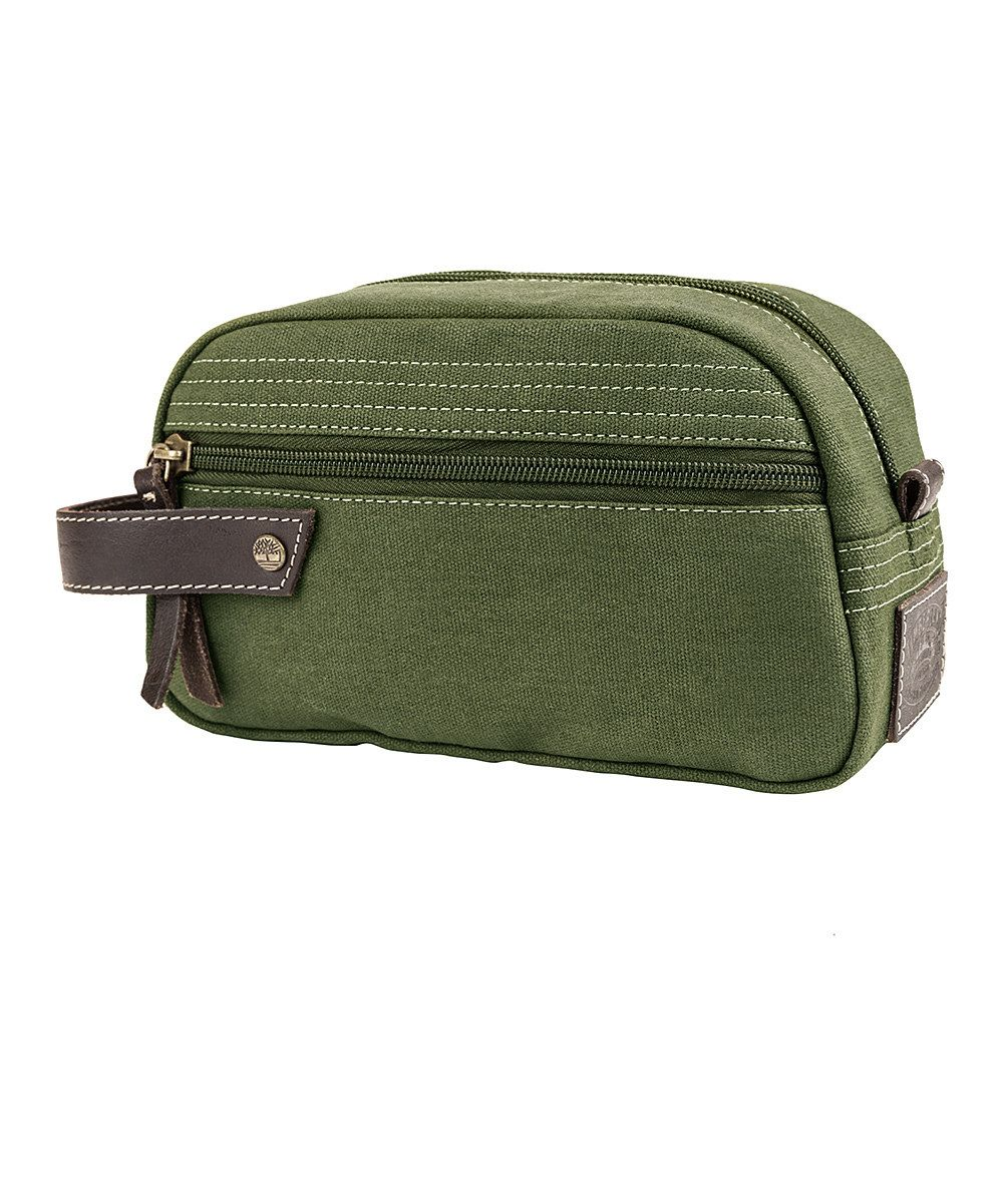 Look at this Timberland Olive Canvas Travel Kit on #zulily today!