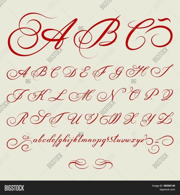 Bildergebnis für kalligraphie alphabet vorlagen | каллиграфия ...