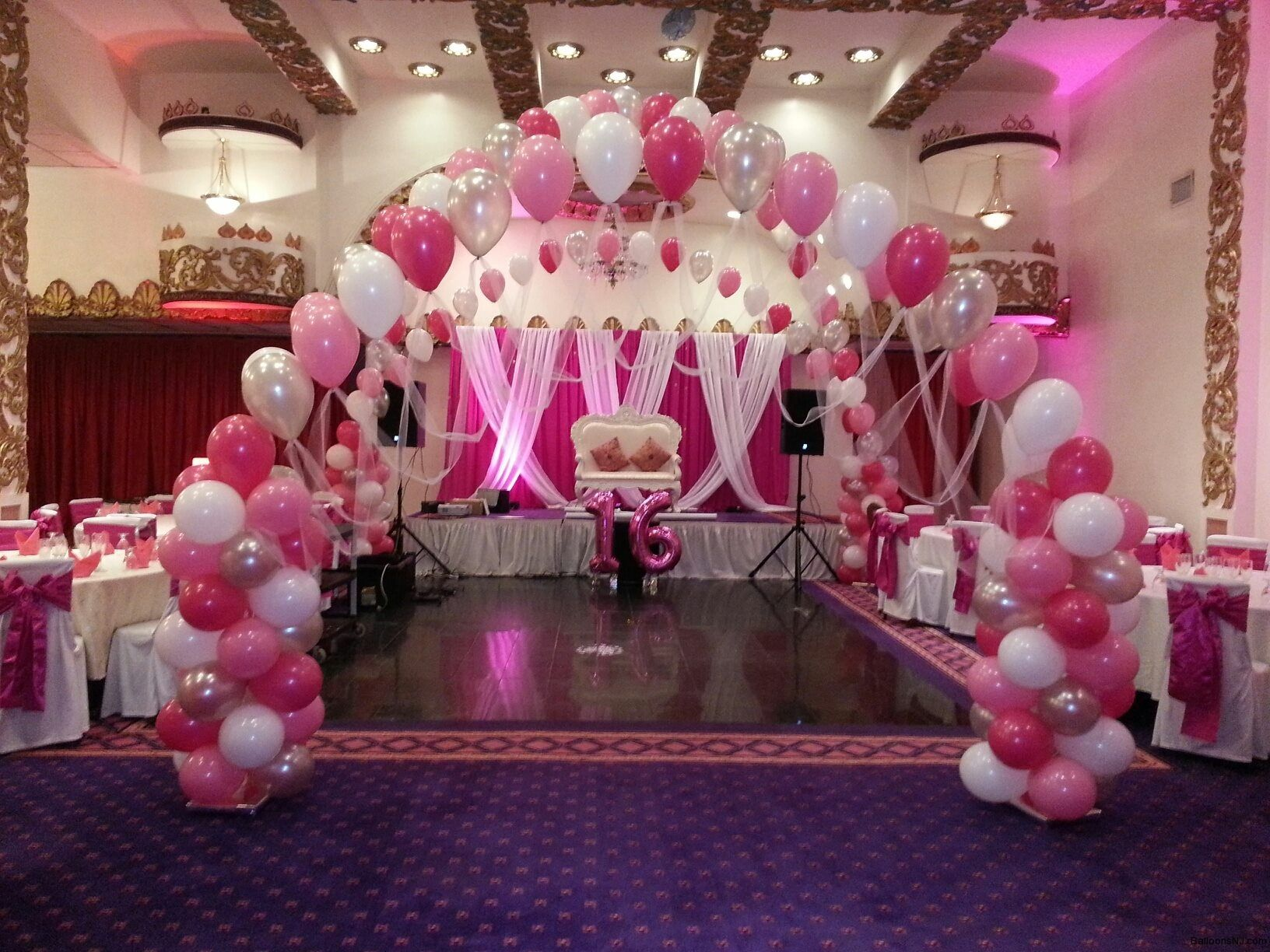 Balloons nj balloon decorations 732 paris themed for Balloon decoration for parties