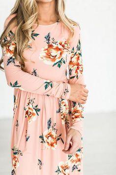 be419ee9390 Floral Blooms Dress - Blush - Mindy Mae s Market    floral dress ...
