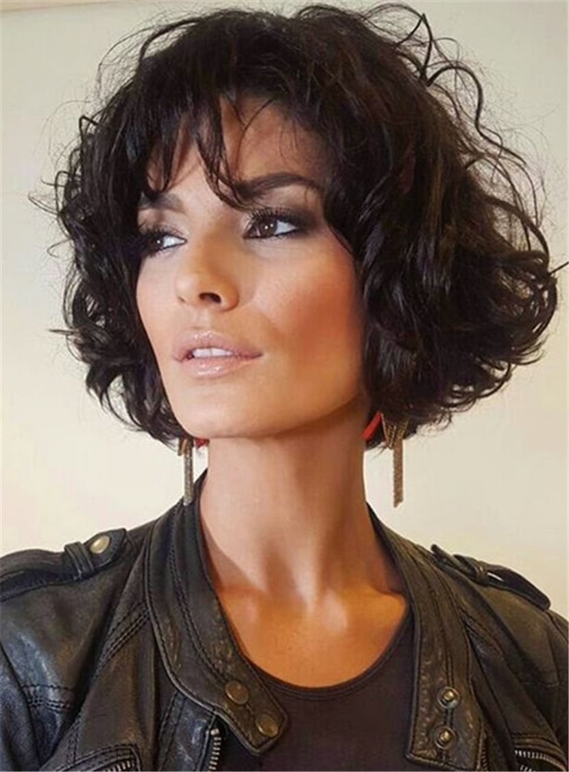Cheap Short Loose Pixie Hairstyle Soft Synthetic Hair Jerry Curly