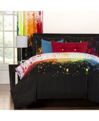 Crayola Cosmic Burst 6 Piece King Luxury Duvet Set Bedding Duvet