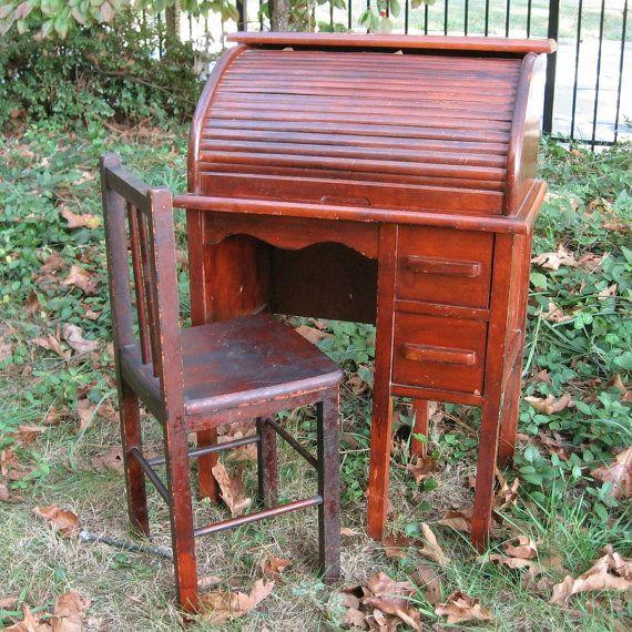 Custom Listing For Becky Greer Child 39 S Roll Top Desk Vintage 1945 Roll Top Desk Vintage Desk Desk
