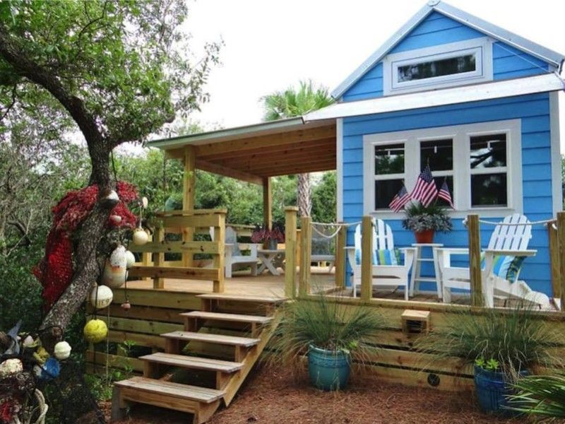 Beautiful 325 Sq Ft St George Island Tiny House. Source Www.countryliving.com