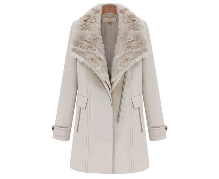 free shipping Cherrydress brand hot sale top quality womens fashion wool coats for women winter with detachable collar $79.35