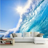Custom 3d Painting Art For Living Room The Deep Blue Sea Surf Ocean