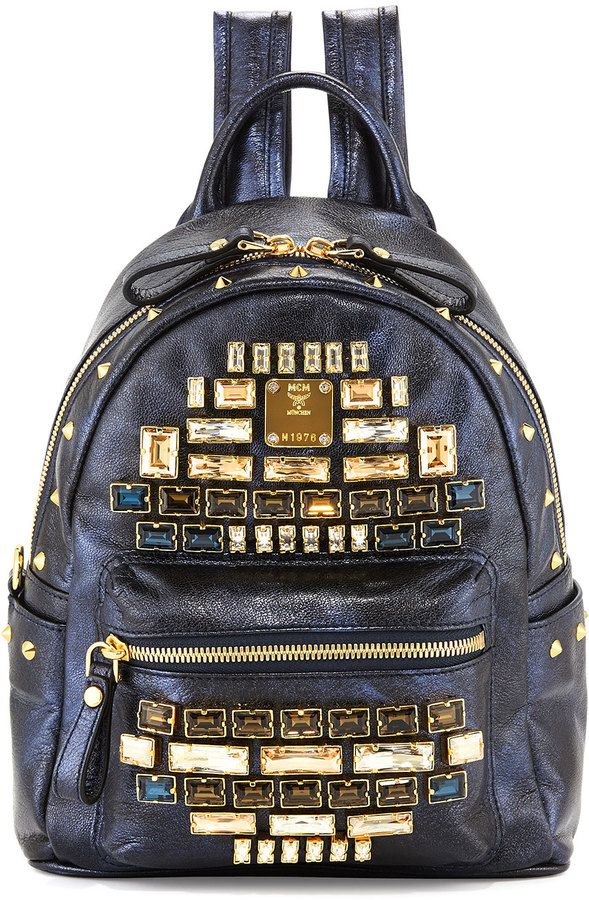 4937400e MCM Stark Edeline Mini Backpack, Blue on shopstyle.com | MY LOOKS ...