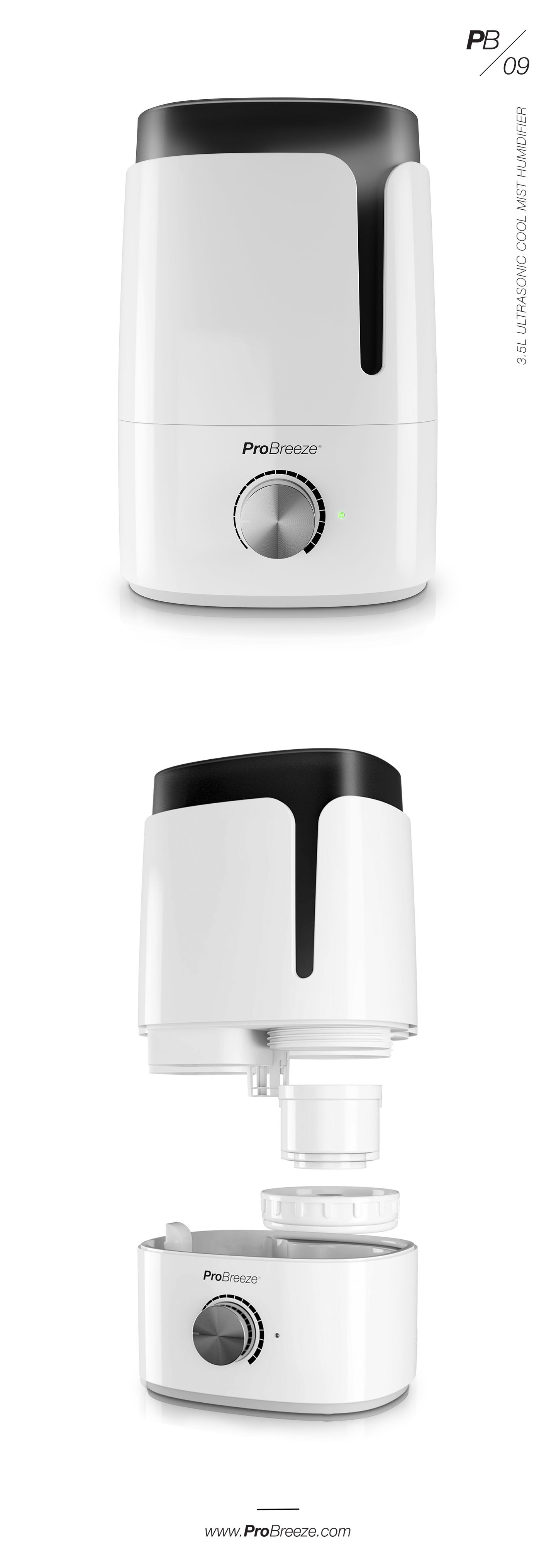 3.5 Litre Ultrasonic Humidifier Ultrasonic cool mist