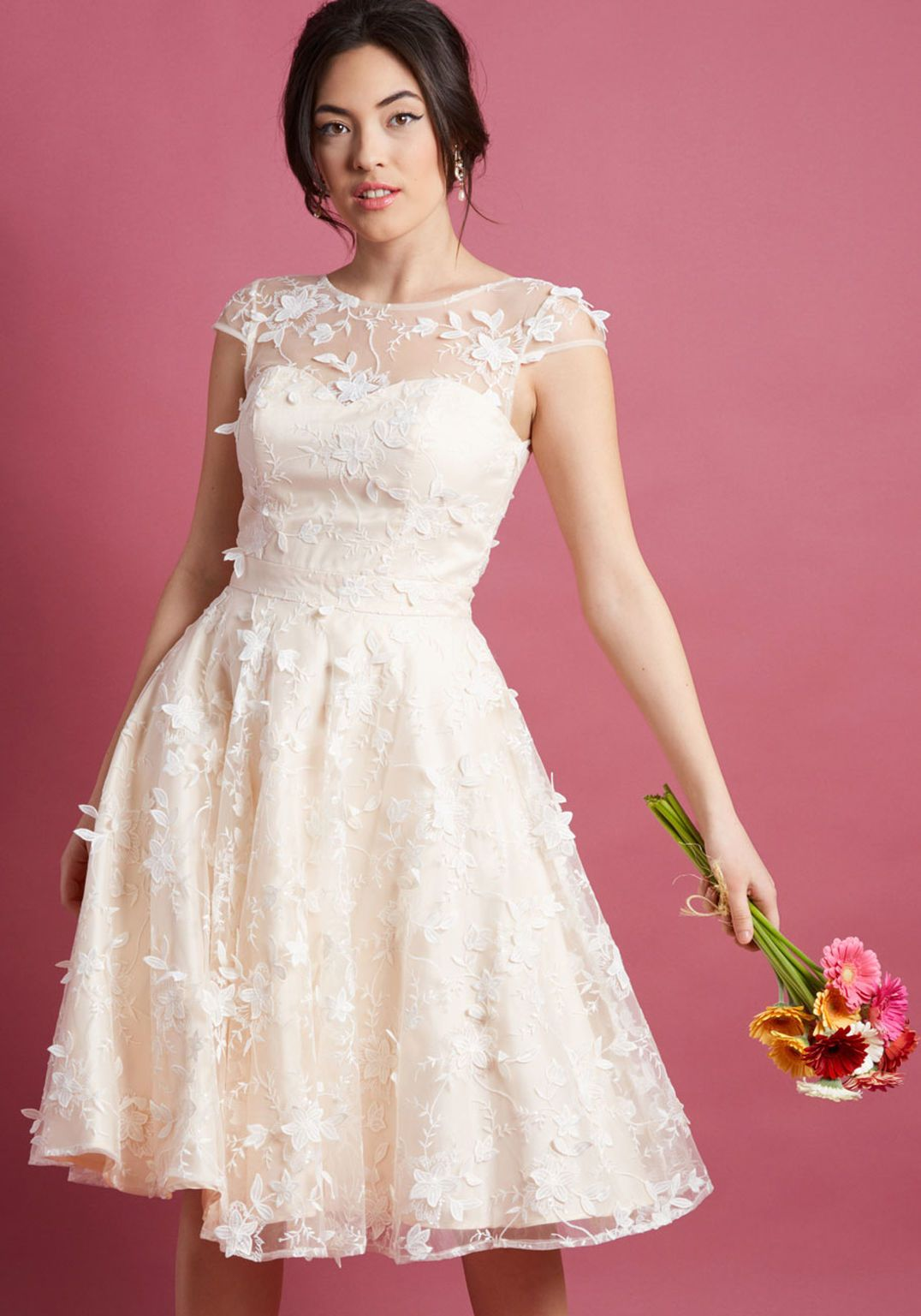 Best affordable wedding dress shops london  Chi Chi London Eyes on the Bride ALine Dress in Posy  Wedding