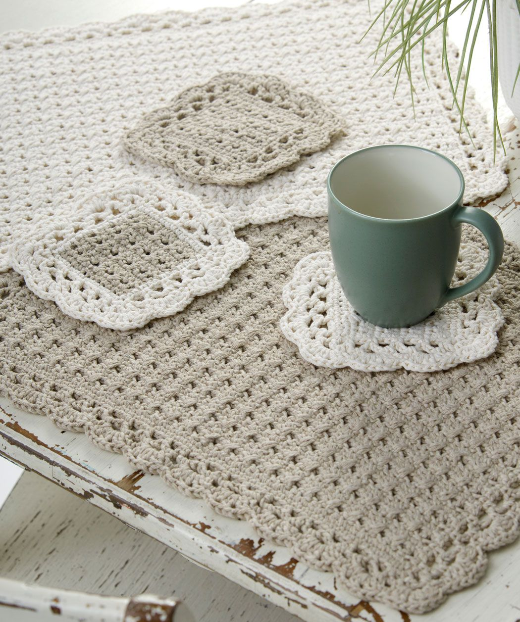 Options Placemat Coaster Crochet Pattern Red Heartthis Crochet