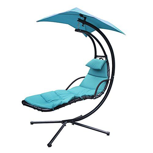 Hammock Chair With Canopy Swivel Lounge Chairs F2c Chaise Lounger Hanging Arc Stand Air Porch Swing Umbrella Support Included Teal Click For Special Deals Swingchairs