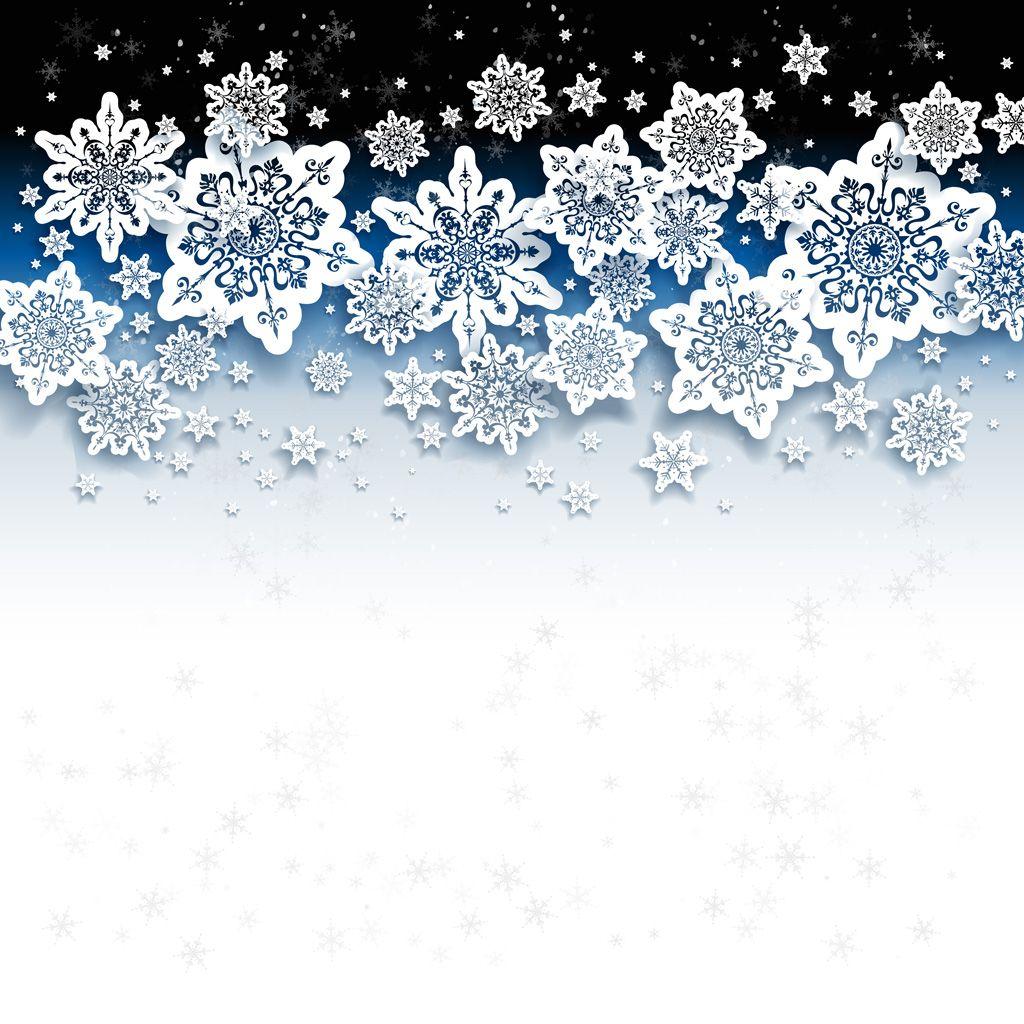 フリーイラスト素材] イラスト, 背景, 雪, 雪の結晶, 冬, eps id
