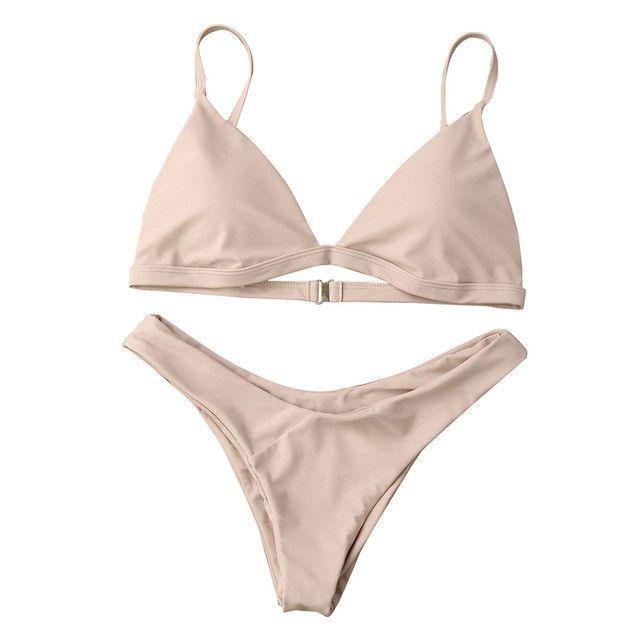 d000fd2d3e Bikinis Women Swimsuit solid Push-Up Padded Bra Beach Bikini Set Swimsuit  Swimwear tankini trajes de bano women zy