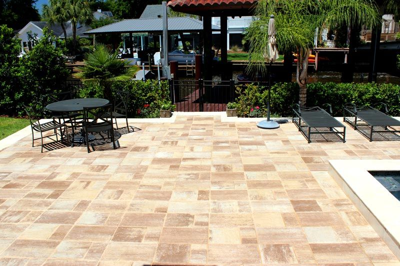 bluestone sand dune paver pool deck and patio installed in