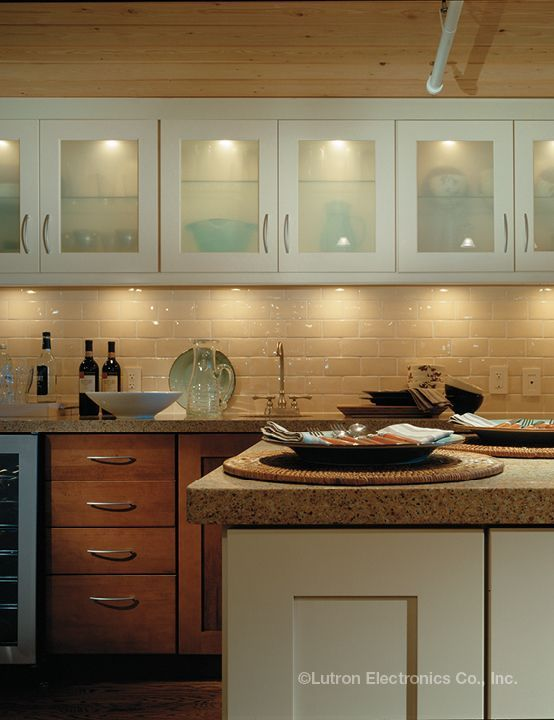 Lutron Ivalo Decorative Indoor And Outdoor Lighting Designs Kitchen Remodel Modern Kitchen Cabinets Inside Kitchen Cabinets