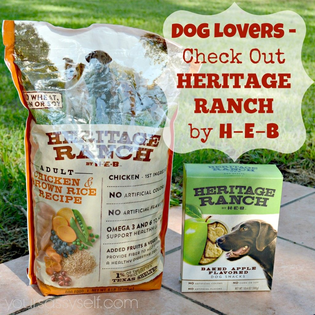 Dog lovers check out heritage ranch by heb dog food