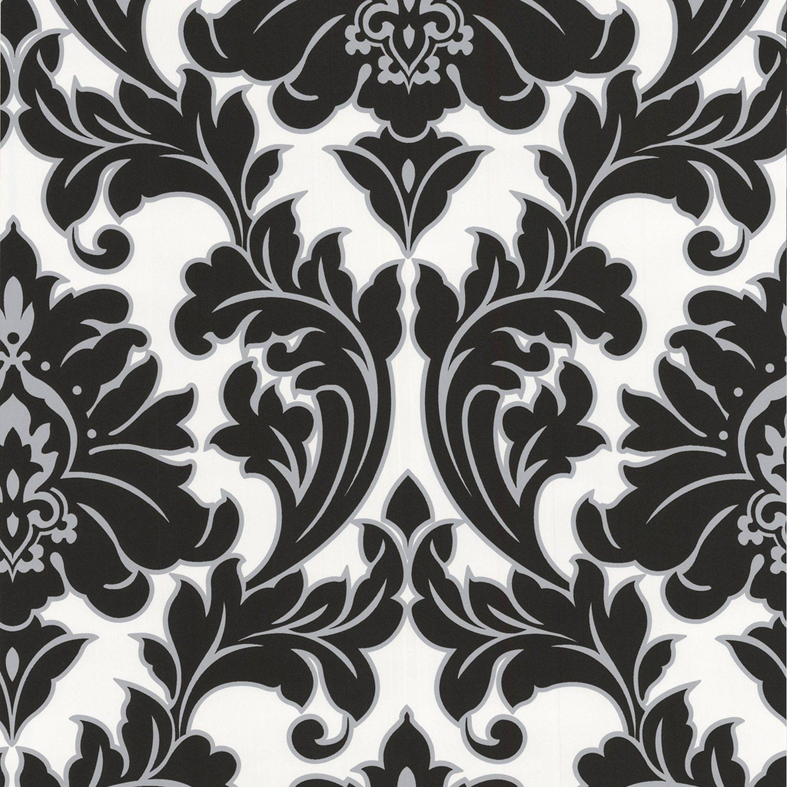 Graham & Brown Majestic Wallpaper Black and White in 2019
