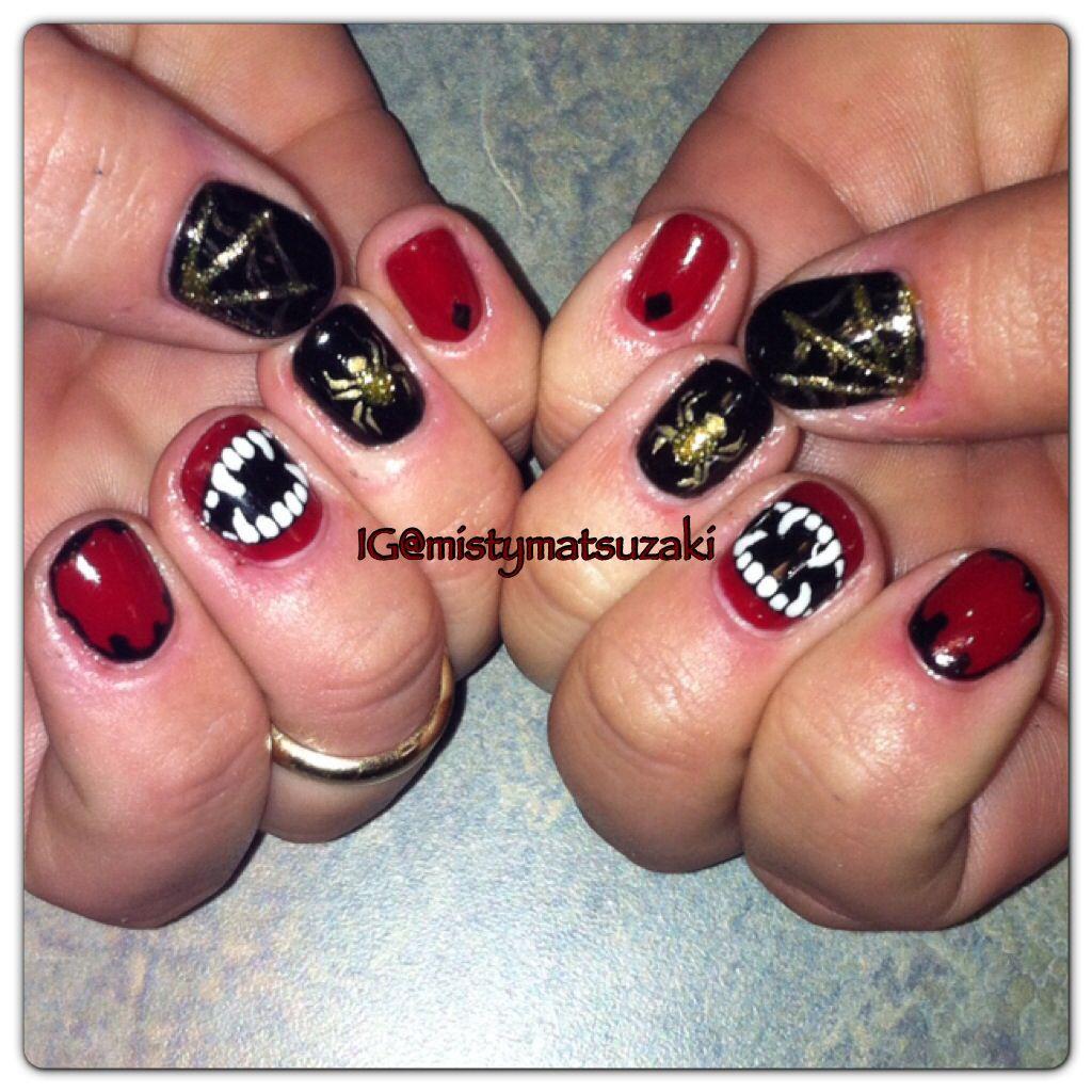 Halloween nail art. Cnd shellac nail art. Fall nail art. | My NAIL ...