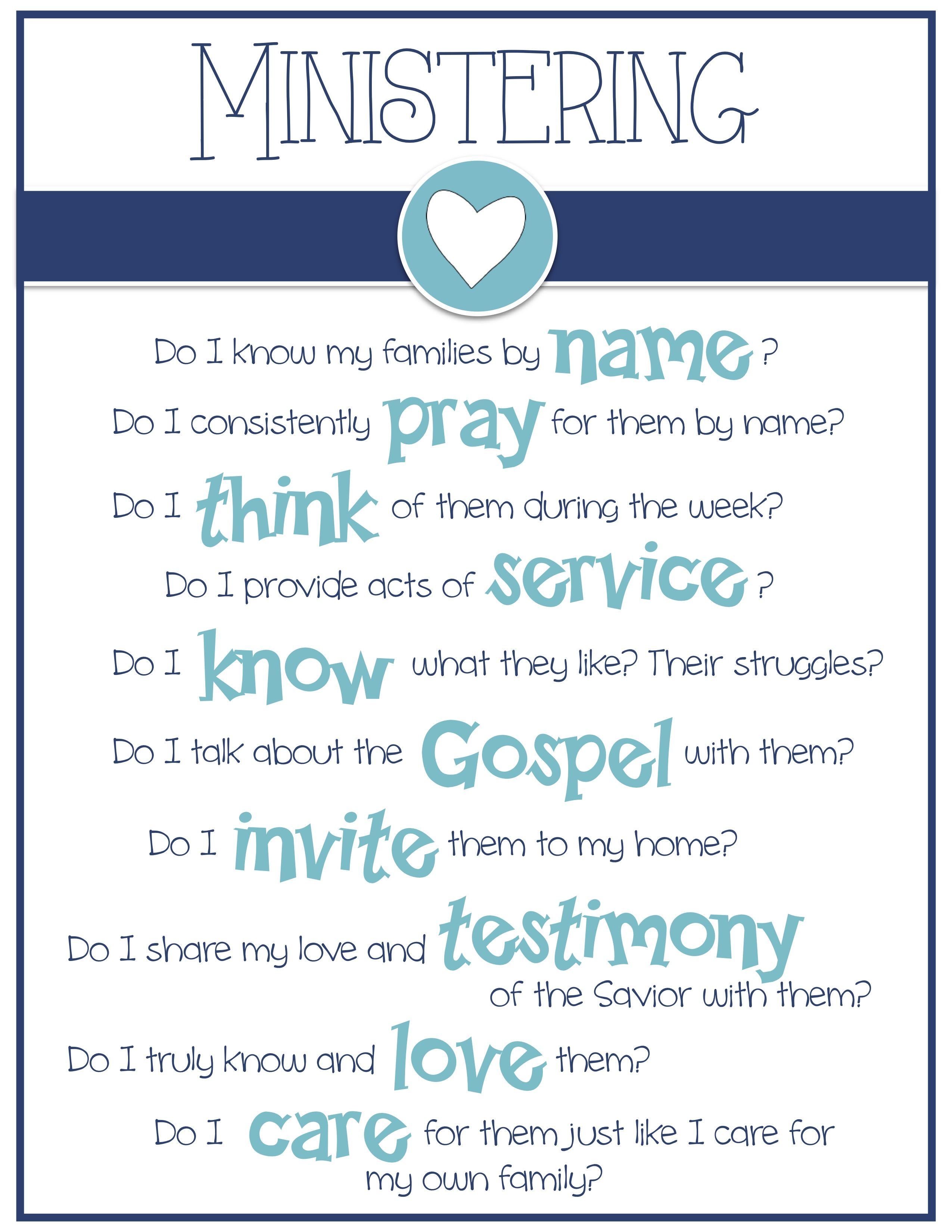 Relief Society Lesson November 2019 Ideas For Missionary Work Ministering Questions: Do I | Church of Jesus Christ | Relief