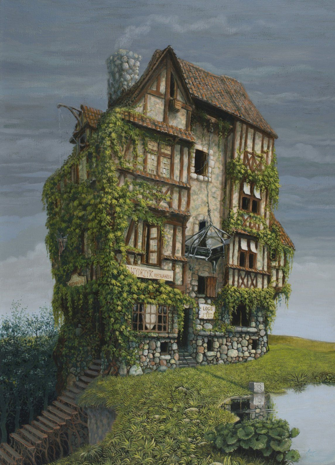 The Old French House Marcin Minor On ArtStation At