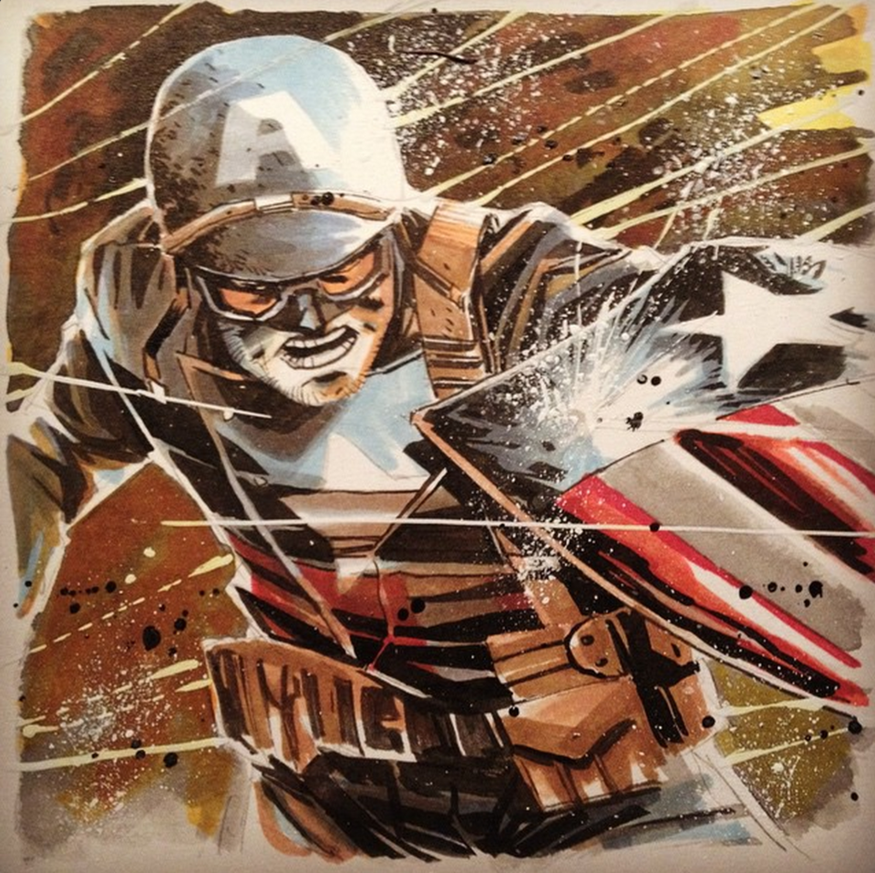 Captain America by Mike Henderson