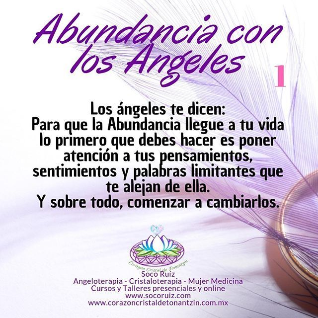 Soco Ruiz on Instagram I begin to share messages that the Angels of Abundance have for you to help you connect with the energy of abundance in