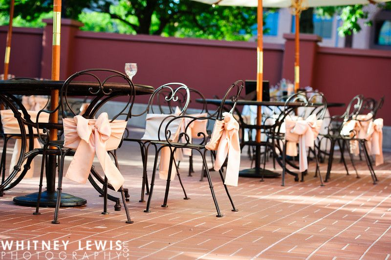 Dining area outside Devereaux Mansion #weddings #receptions